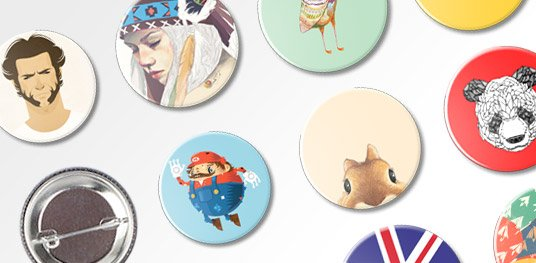 custom badges with pin